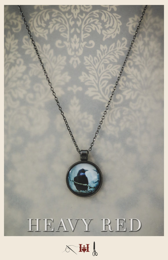 Raven Picture Necklace