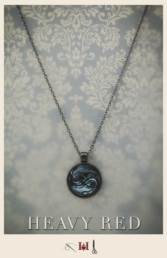 Two-headed Serpent Picture Necklace