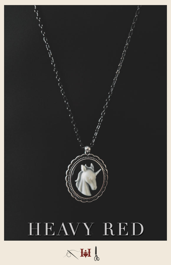 Unicorn Cameo Necklace