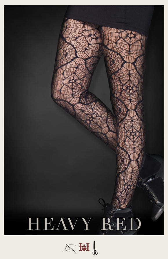 Kaleidoscope Noir Stockings