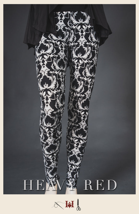 Damask Winter Leggings