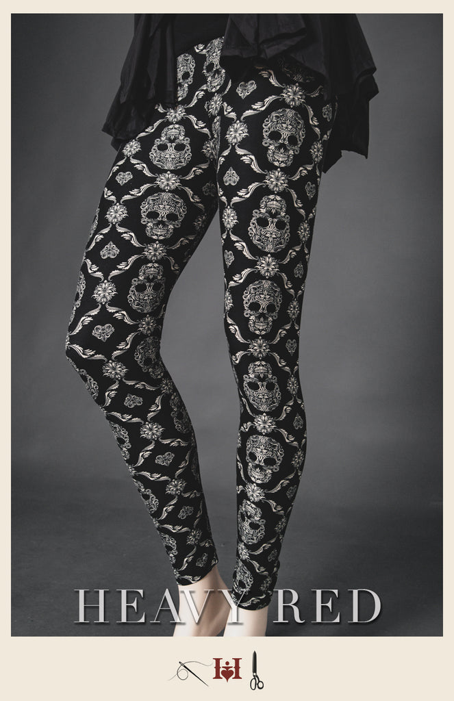 Skulls & Flourish Winter Leggings