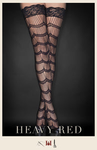 Scalloped Burlesque Thigh Highs