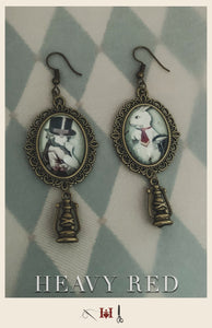 Alice in Wonderland & White Rabbit Earrings