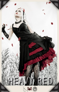 Alice's Adoration Red Ruffle Tea Dress