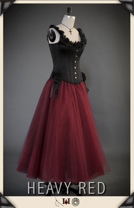 Intrinsic Grace Red Tulle Skirt