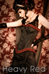 Victorian French Pleated Striation Corset