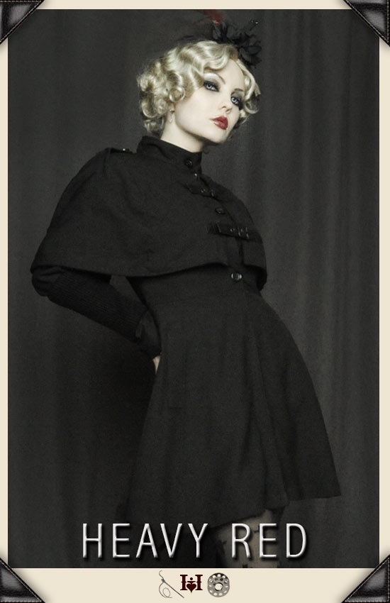 Ophelia Darkly Caped Coat