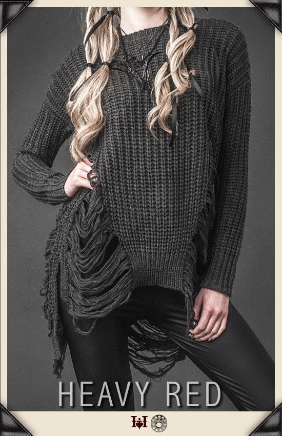 Love's Mistrust Grey Tunic Sweater