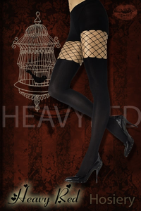 Criminal Desires Full Length Solid & Net Stockings