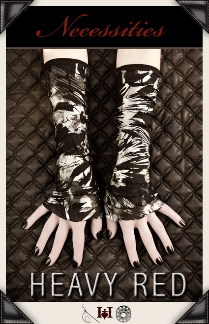 Chaotic Discontent Ruffle Gloves