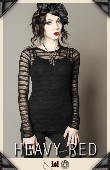 Raven's Lace Net Long Shirt