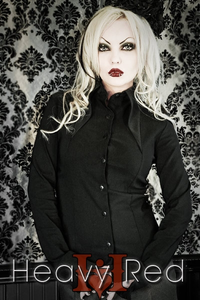 Gothic Lolita Black Pinnacle Dress Shirt