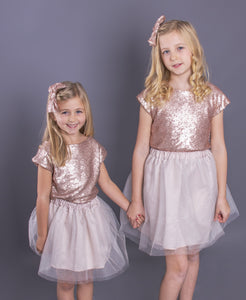 Rose Gold Sequin Children's Top