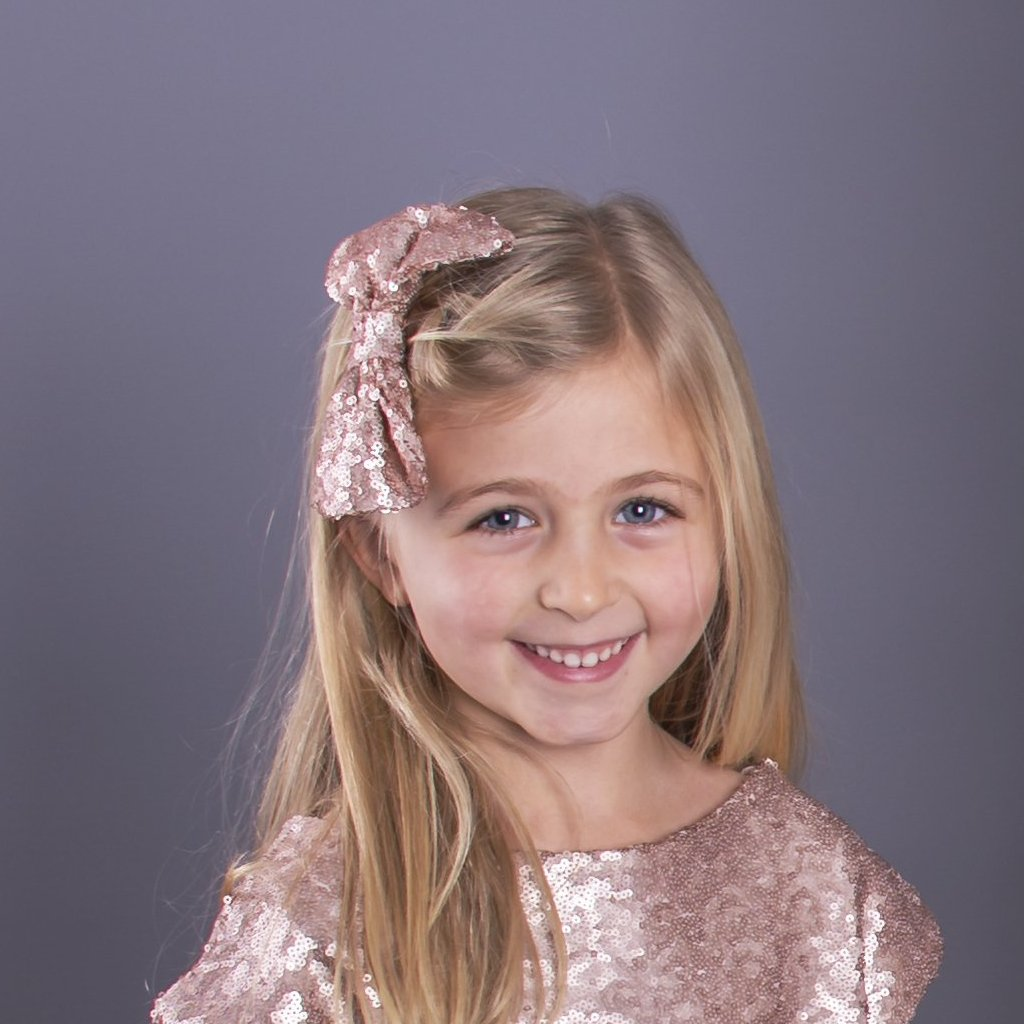 Children's Sequin Hair Bow