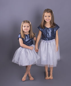 Children's Sequin Top and Hair Bow Set