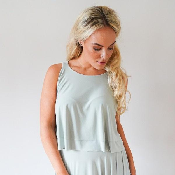 Eliza // Loose Fitting High Neck Racer Top