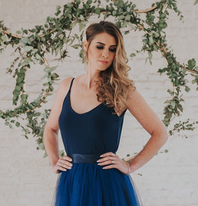 Alexa // Navy Camisole Top