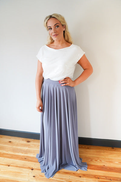 Penelope // Charcoal Grey Long Bridesmaids Maxi Skirt