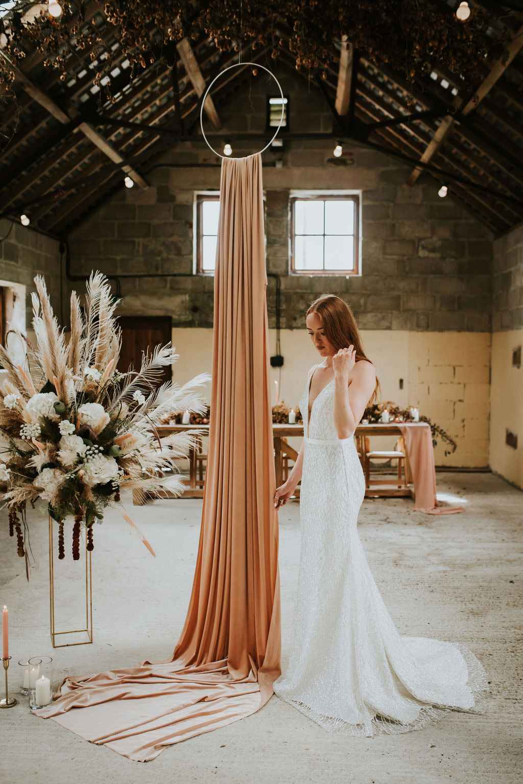 Tallulah // Glitter Plunge Fishtail Wedding Dress