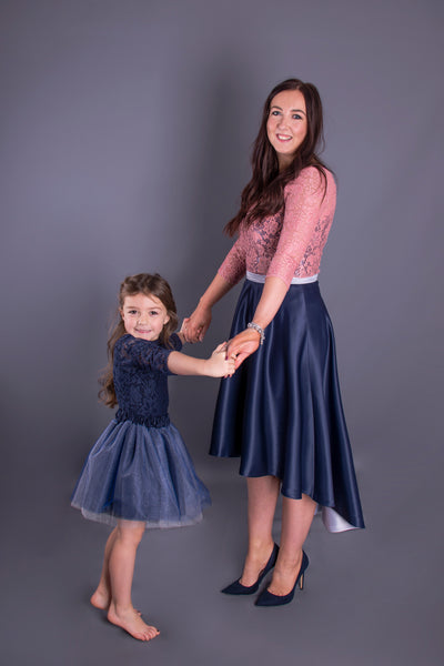 Navy Glitter Tulle Skirt Children's