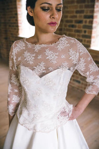 Alice // Bridal Lace Top