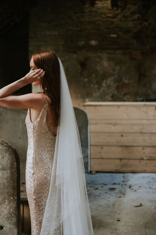 Super Soft Tulle Veil & Cowl Cape