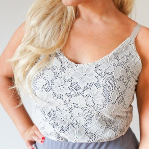Rose // Lace Camisole Top