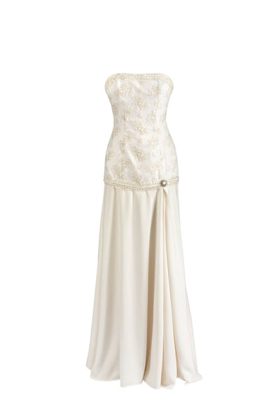 Gretta // boho vintage lace dropped waist wedding dress