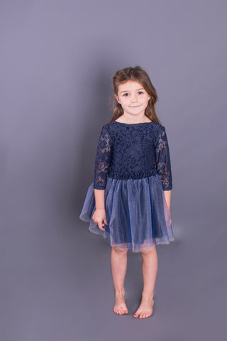 Navy Lace Leotard / Bodysuit Children's
