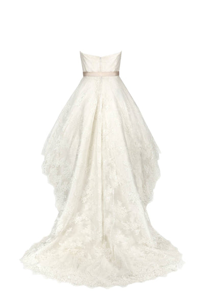 Chloe // Short Dipped Hem Lace Wedding Dress