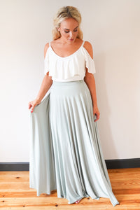Penelope // Sage Green Long Bridesmaids Maxi Skirt
