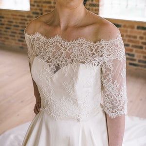Teresa // Off The Shoulder Bridal Lace Top