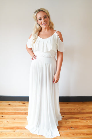 Penelope // Ivory Long Bridesmaids Maxi Skirt