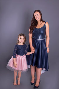 Elle // Navy Sequin Camisole Top