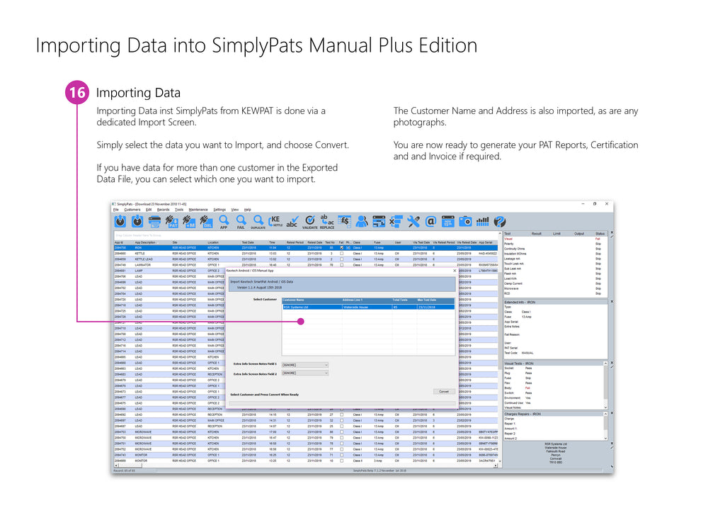 Importing KEWPAT Data into SimplyPats