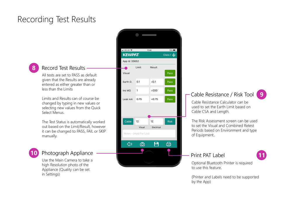 Recording the Test Results displayed on your Manual PAT Tester into KEWPAT