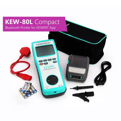 KEWTECH EZYPAT and KEW-80L Compact Bluetooth Label Printer for KEWPAT