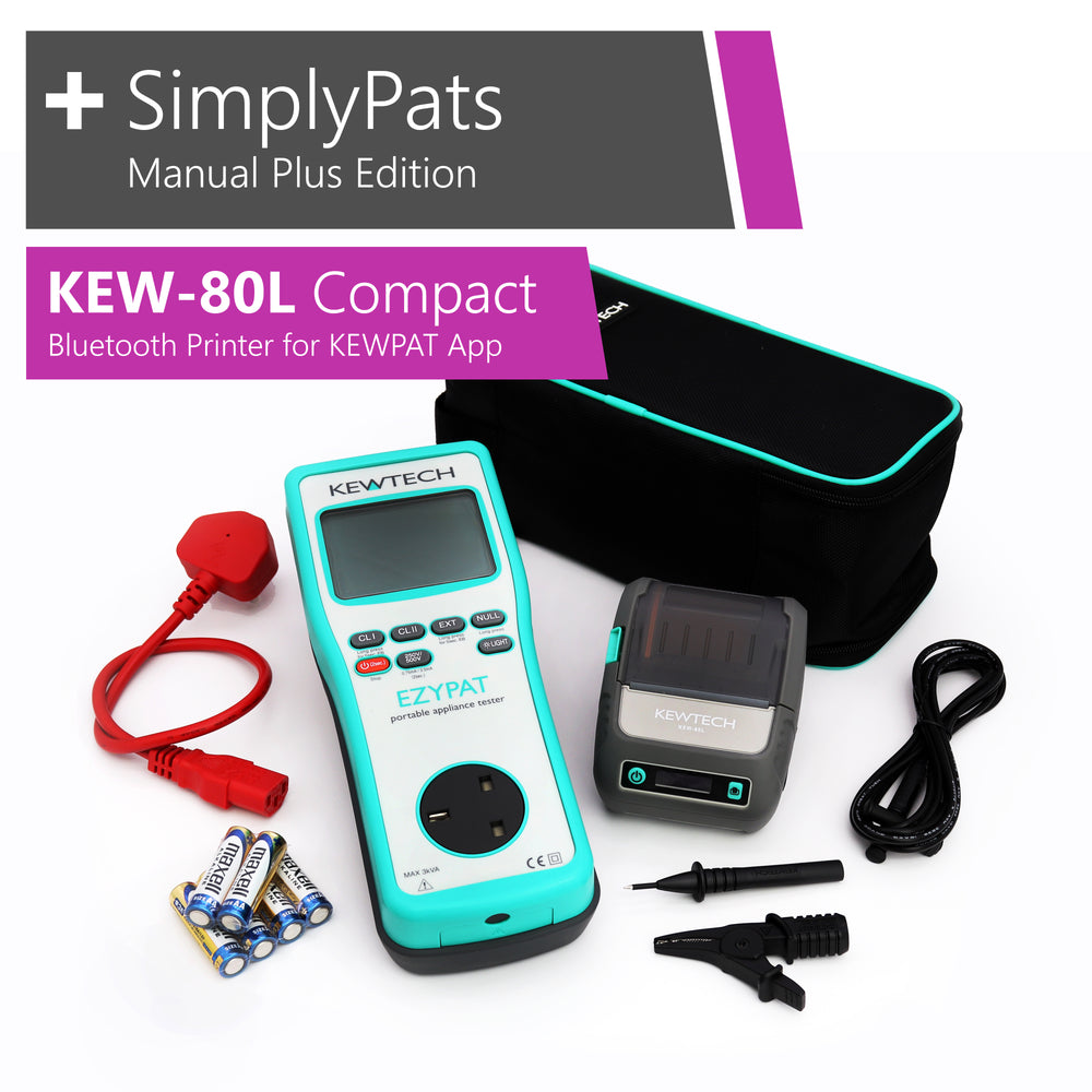 KEWTECH EZYPAT - KEW-80L Compact Bluetooth Printer for KEWPAT and SimplyPats Manual Plus Edition Software