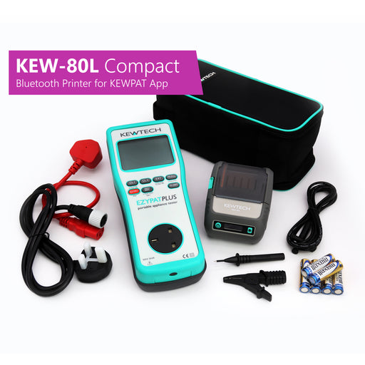 KEWTECH EZYPAT Plus and KEW-80L Compact Bluetooth Label Printer for KEWPAT