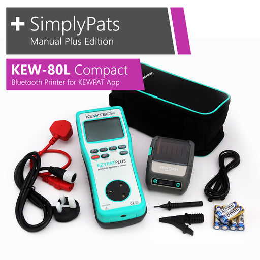 KEWTECH EZYPAT Plus - KEW-80L Compact Bluetooth Printer for KEWPAT and SimplyPats Manual Plus Edition