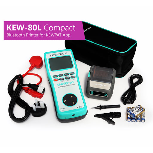 KEWTECH SMARTPAT and KEW-80L Compact Bluetooth Label Printer for KEWPAT