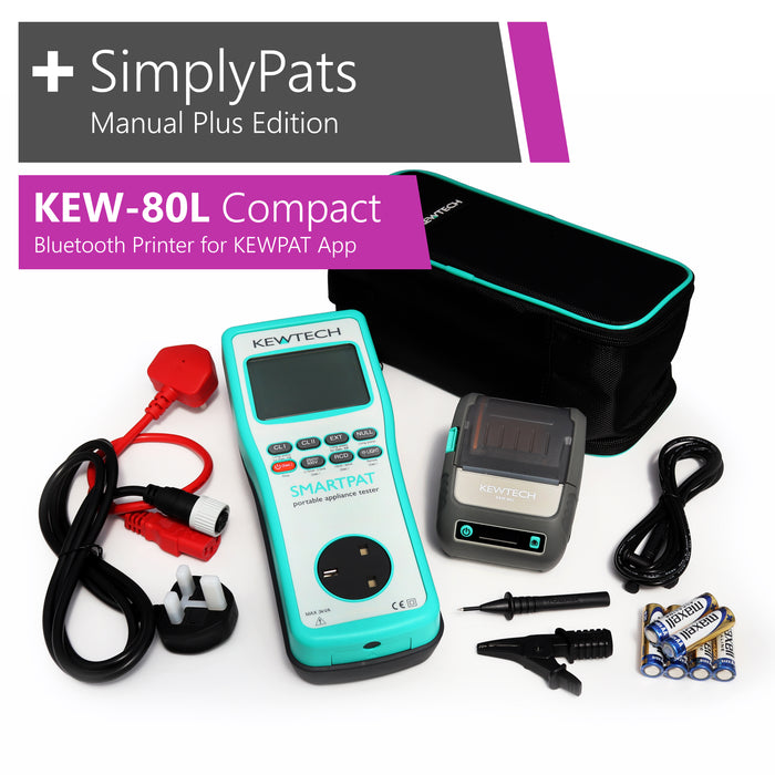 KEWTECH SMARTPAT - KEW-80L Compact Bluetooth Printer for KEWPAT and SimplyPats Manual Plus Edition