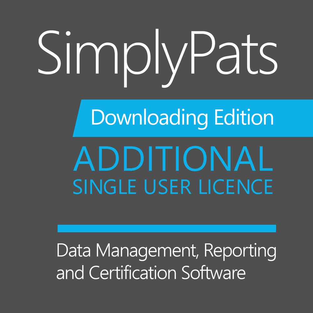 Additional Single User Licence - SimplyPats Full Downloading Edition