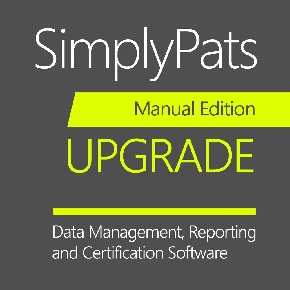 SimplyPats V7 Manual Edition (Upgrade from Manual Edition V6 or V5)