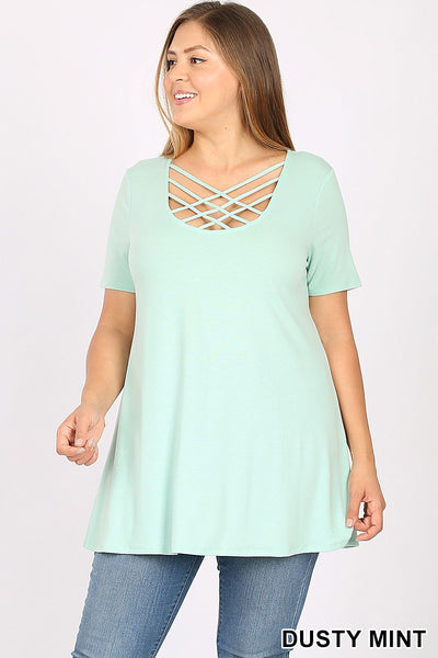 Dusty mint spring cage top