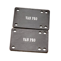 "vanpro Bridge pad 1/8"" Rubber Skateboard Riser Set BLACK, Skateboard Risers for Preventing Wheelbite and Absorbing Impact Shock, Reduces Vibrations to Extend Hardware Life"