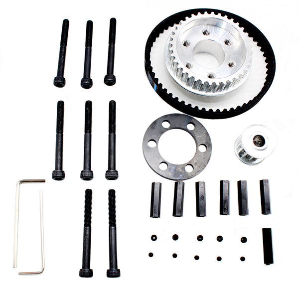 Vanpro DIY Electric Skateboard 8352,9052,9752PU 100MM Pulleys Kit set 36/12 tooth Drive Flywheel Pulley Kit Parts BELT 10MM 5M (Snow black, Pack of 1)