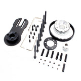 Vanpro DIY Electric Skateboard 5065 Brushless Motor Mount Bracket  80MM 90MM 97MM 100MM Pulley Wheel KIT Belt 5M 10MM (Snow black, Pack of 1)