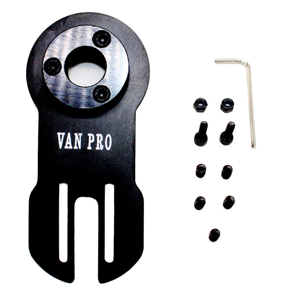 Vanpro DIY Electric skateboard 50,63 series brushless motor Mount(Snow black, Pack of 1)